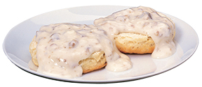 Anew Borculo biscuits & gravy