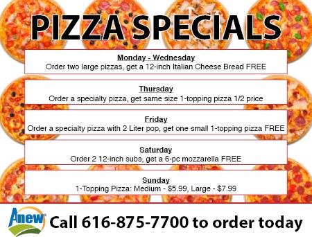 Anew Borculo Pizza Specials - rev 1-11-18